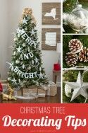 Christmas Tree DIY Decorating Tips | via Make It and Love It