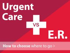 When your child becomes sick or injured, you may not know when to choose an emergency department or urgent care. Here's how to know where to go.