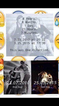 7/23/10 - 3/25/15 but they are still One Direction but just a foursome as preformers