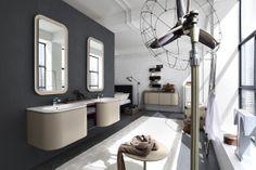 Bagno Suede con finitura legno tinto melanzana, legno tinto tortora  http://www.cerasa.it/it_IT/bagni/design/suede/mobile-bagno_classico-suede-new-110