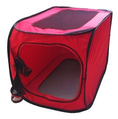 Rectangular Elongated Mesh Canvas Collapsible Outdoor Tent w/ bottle holder