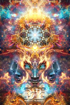 "This psychedelic visionary art piece is kind of a collaborative inspiration from both the DMT space and from reading ""The Emerald Tablets of Thoth"". Lion Tapestry, Emerald Tablets Of Thoth, Om Art, Zodiac Art, Hippie Art, Dark Fantasy Art, Visionary Art, Psychedelic Art, Fractal Art"