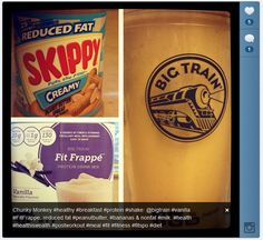 Um, Yum! Skippy Protein Shake Recipe via @marianthefoodie - Vanilla #FitFrappe Peanut Butter Goodness.