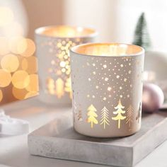 Teelichthalter Winterwald Katalogbild Concrete, Candle Holders, Candles, Advent, Pottery Designs, Xmas, Cement, Retail Space, Seasonal Decor