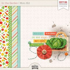 Quality DigiScrap Freebies: In The Garden mini kit freebie from Scotty Girl Design Digital Scrapbooking Freebies, Pocket Scrapbooking, Scrapbook Templates, Free Printables, Color Schemes, Card Making, Kit, Garden, Projects
