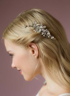 Alayna Crystal And Pearl Hair Comb