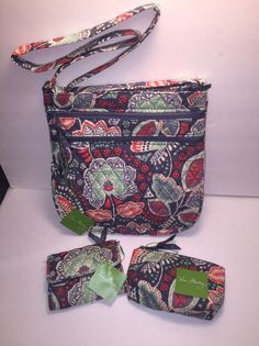 Vera Bradley Crossbody Purse, Wallet, And Cosmetic Bag Lot NWT  | eBay