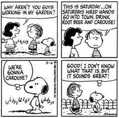 Oh Saturday...this Peanuts strip is from March 6, 1982