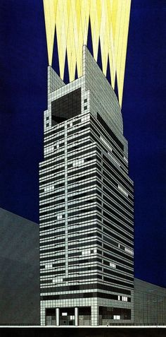 Frederic Schwartz, Late Entry to the Chicago Tribune Tower...  #architecture #drawing Pinned by www.modlar.com