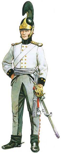 Униформа офицера Силезского кирасирского полка (№1), 1813 - Uniformen Offizier Silesian Kürassier-Regiment (№1) 1813