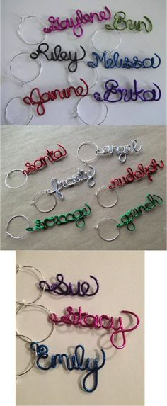 "Adorable customized wine charms make a unique gift that is sure to impress! They'll never again deal with the question ""is this glass mine?"" Perfect to use at your holiday parties or dinners, and your guests can take them home as favors to enjoy. Unique gift for friends, co-workers, hostess, or stocking stuffers!"