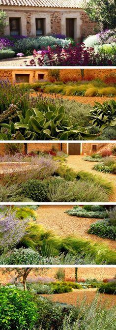 Mediterranean garden in Toledo, designed by landscape studio Urquijo Kastner. Spain: