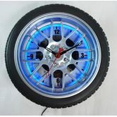 """Found it at Wayfair - 18"""" Tire Wall Clock with Blue Neon Light"""