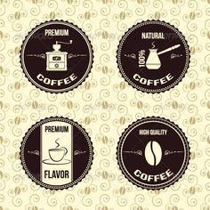 Coffee Vintage Labels  #GraphicRiver