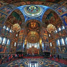 Inside the Church of the Savior of the spilled Blood, St. Petersburg, Russia