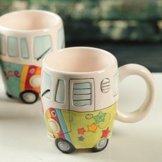 $4.1 Wholesale 257 * 20 creative cute ceramic mug car flower cup cup-ZZKKO  i want this for my friend <3
