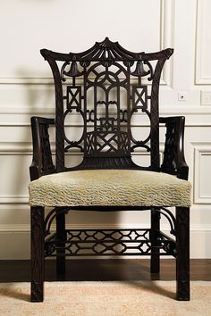 just one exquisite classic piece like this fine Chinese Chippendale Chair would suffice ...     Appreciating the Art of Dodie Rosekrans .......