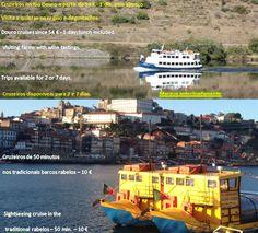 Visite o Douro: a Região Demarcada mais antiga do mundo  Experiência: Porto, Vale do Douro e Norte de Portugal  Várias soluções de cruzeiros e visitas no Porto, região norte e Vale do Douro.  Oferta da primeira degustação Programa completo de visita da cidade a partir de 10 €  Passeios organizados de dia inteiro com guia: Braga, Guimarães e ao Vale do Douro: Régua e Pinhão.
