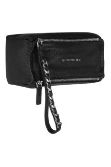 Givenchy Small Pandora wristlet bag in black textured-leather | NET-A-PORTER