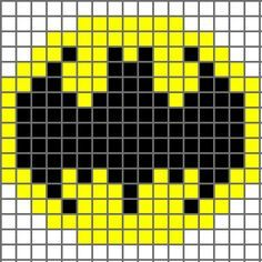 Batman Chart for crochet. I can uses this for knitting.