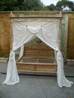 canopy bed drapes on Pinterest & king canopy bed drapes | Fantasy Palace 4-Poster Bed Canopy Drapes ...