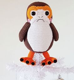 Porg Christmas Tree Topper Amigurumi Pattern