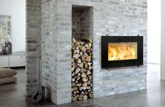 Euro Fireplaces, European fireplaces, Modern wood fireplace for sale Wood, Wood Stove Surround, Fireplaces For Sale, Contemporary Fireplace, Wood Fireplace, Modern, Modern Wood, Modern Fireplace, Fireplace Inserts