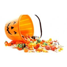 The Haunted History of Halloween Candy ❤ liked on Polyvore featuring halloween