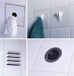 3D Function Tile for Small Bathrooms by Droog: Great ideas!