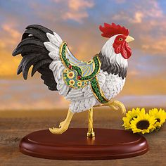 Carousel Statues:  Rooster Carousel Figurine by Lenox