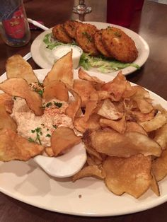 Creamy Blue Crab Dip & Fried Green Tomatoes