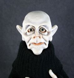 Image detail for -OOAK Polymer Clay Goth Sculpture Vampire Ghoul Art Doll Oddfae ...