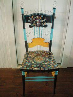 Mosaic Chair by Heidi Farrow, via Flickr