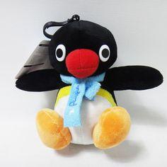 New Cute Kawaii Penguin Character Pingu 15cm 6in Plush Doll Bagpack Keychain #Pingu