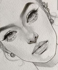 This is magnificent: those eyes : real sketch so beautiful. Girl Drawing Sketches, Face Sketch, Art Drawings Sketches Simple, Portrait Sketches, Dark Art Drawings, Pencil Art Drawings, Realistic Drawings, How To Shade Drawings, Portrait Au Crayon