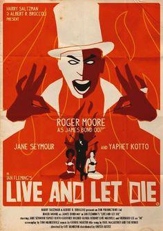"""""""Vivre et laisser mourir"""" (dir. Guy Hamilton, 1973) : 007 est appelé à la rescousse pour mettre fin à l'hécatombe meurtrière qui décime les agents secrets britanniques. Enquêtant à New York, dans le quartier de Harlem, il affronte un caïd de la drogue, le redoutable docteur Kananga et sa comparse, l'étrange Blanche Solitaire..."""
