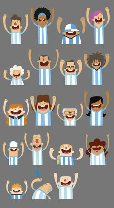 Character´s illustration - World Cup Brazil 2014  by Ignacio López Arambarri…