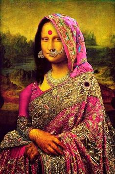 I'm totes in love with this Indo-Mona Lisa! Anyone know the artist?