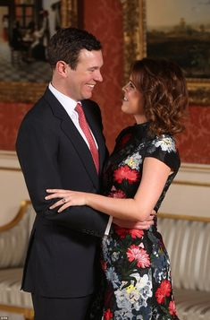 The look of love! The couple marked their engagement with official portraits taken in the ...