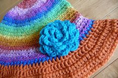 Summer Hat Crochet Free Pattern and link to flower pattern