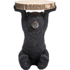 An ursine side table, not just for animal lovers - Bear side table, a not-entirely-serious creation inspired by a comic figure, performs a useful function. A crazy eyecatcher in the shape of a bear. More loyal than any real four-legged friend. An original table which will put a smile on the face of everyone who sees it. With its practical top Bear is actually a flyweight, but it still puts in a robust performance. A real eyecatcher for your bar, living room or wherever you decide to put it.