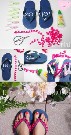 DIY Boho Flip Flops