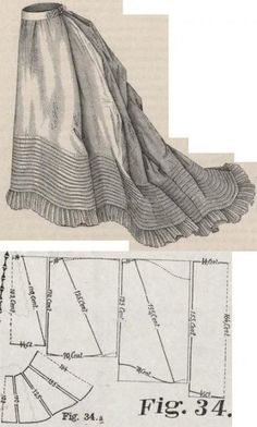 Dress Pattern Formal Outfit 64 Super Ideas - pattern fashion - Source by idea formal Costume Patterns, Doll Clothes Patterns, Clothing Patterns, 1870s Fashion, Victorian Fashion, Vintage Fashion, Retro Mode, Mode Vintage, Formal Dress Patterns