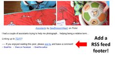 'How To Add A RSS Feed Footer ' by #Blossom Heart Quilts 'Gettin' Bloggy With It!'