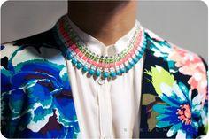 swellmayde: DIY | Painted Rhinestone Necklace