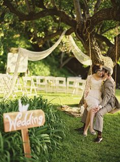 Mariage retro, idée de cérémonie en plein air
