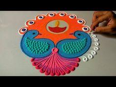 30 super ideas for crochet edging easy projects Rangoli Designs Latest, Rangoli Designs Images, Rangoli Designs Diwali, Mehandi Designs, Diya Rangoli, Peacock Rangoli, Flower Rangoli, Rangoli 2017, Small Rangoli Design