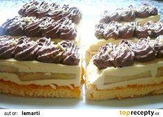 Řezy s vanilkovým krémem recept - TopRecepty.cz Krispie Treats, Rice Krispies, Czech Recipes, Ethnic Recipes, Tiramisu, Cheesecake, Food And Drink, Sweet, Cakes