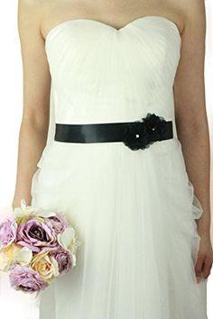 Lemandy Vintage Two Flowers Bridal Sash Wedding Dress Belts Wedding Accessories B13 in 11 Colors (black) Lemandy http://www.amazon.co.uk/dp/B015W4ZOMW/ref=cm_sw_r_pi_dp_qdkiwb0SPKN09