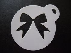 Unique bespoke new laser cut new bow cookie / face painting stencil
